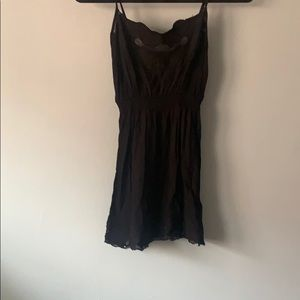 Black lace tank top size small